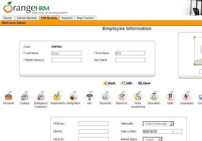 OrangeHRM | Group Three IT Consultants