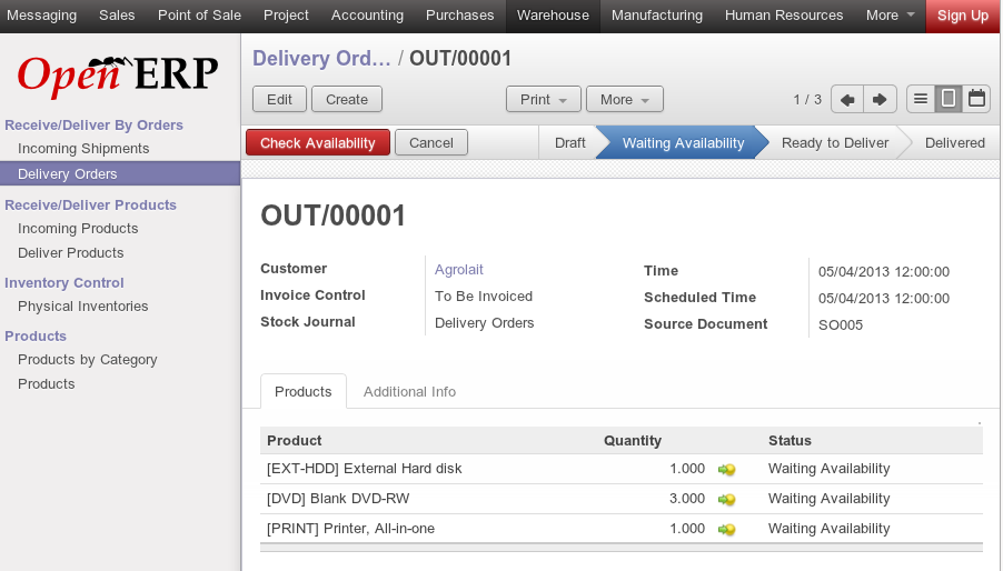 Odoo Abu Dhabi Power Supply Chain Inventory Management